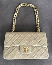 Authentic Chanel Classic Flap VINTAGE Beige - EUC Stunning! Timeless