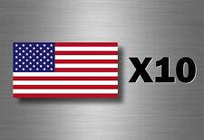 10x autocollant sticker voiture moto scrapbooking drapeau usa etats unis