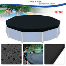 Black Swimming Pool Cover Protection Case fit for Round Frame 3.6m/12 Ft