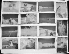 Vtg.(24)Family Florida Fishing Trip Snapshot Negatives; ca.1951; 2¼ x 3¼(6x9)