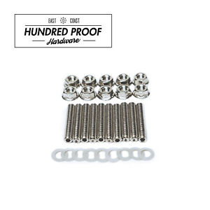 HUNDRED PROOF HARDWARE Intake Manifold Extended Studs Bolt Kit B D H F B18 GSR