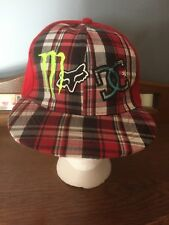 Monster/Fox/DC Size 7 Baseball Red Checkered Hat Cap