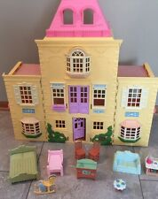 Fisher-Price Twin Time Grand Mansion Doll House With Some Furniture