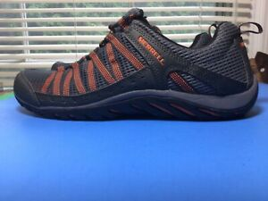 Merrell Walking Trail shoe, Beluga/Merrell Orange, Mens 9.5
