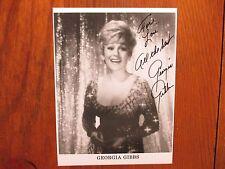 "GEORGIA  GIBBS(Died-2006)(""Kiss of Fire"") Signed  7 1/2 X 10 Glossy  B & W Photo"