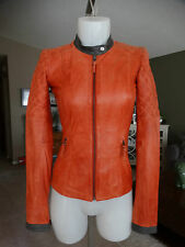 NWT BLINK BY DANIER TANGERINE LEATHER JACKET XXXS