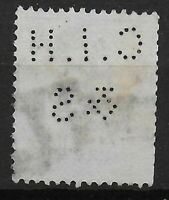"SG191. PERFIN.3d.Lilac-""C.I.H & S."" Stamp Cat.£100.  Ref:05104"