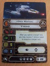 Star Wars X Wing Pilot Card Drea Renthal