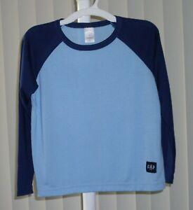 Boys Pajama Top Sleep Top Long Sleeve Blue and Navy Gap  NWOT Size 8