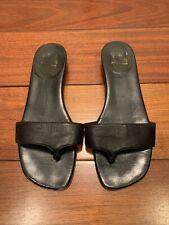 Christian Louboutin Black Leather Sandals Size 37