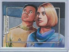 Women of Star Trek 50th Anniversary sketch card Mitchell and Dehner by Meeks