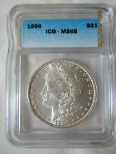 1896 Morgan Silver Dollar - High Grade ICG MS 65
