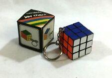 1980 Vintage Mini Rubik's Cube Keychain Puzzle Toy Boxed New Mint