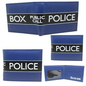 Doctor Who Wallet Purse Mens Kids Tardis Timelord ABC TV Series Police Box AUS