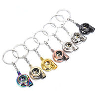 Fashion Portable Mini Spinning Turbo Turbine Keyring Keychain Accessories GiftDS