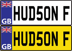 2 xLARGE KIDS PERSONALISED NUMBER PLATES RIDE ON CAR STICKERS 12V 24V 240 x 50mm