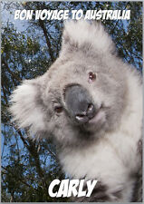 Bon Voyage to Australia Koala Bear Card A5 Personalised with your own wording