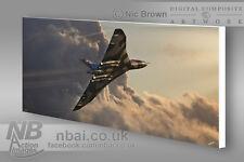 Avro Vulcan B.2 XH558 CANVAS PRINT, Digital Artwork