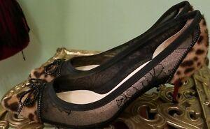 CHRISTIAN LOUBOUTIN Leopard Pony Hair Pumps Shoes Heels  SOURIS  Size 38