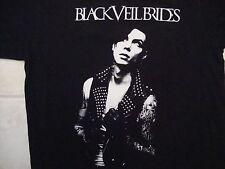 Black Veil Brides Heavy Metal Band Concert Tour Black Cotton T Shirt Size L
