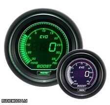 Prosport 52mm EVO Car BOOST PSI Gauge Green and White LCD Digital Display