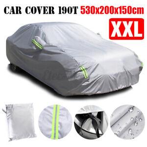 Outdoor Car Sedan Cover Protector Scratch Dust Sun Rain Waterproof Resistant XXL