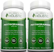Phytoceramides | Rice Based | Two Bottle Pack | 100% Natural Vegetarian Capsules