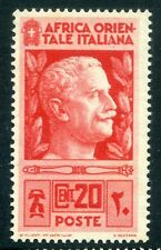 ITALY;  EAST AFRICA  1938 first issue fine Mint hinged  20c. value