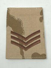 British Army Sergeant SGT Desert DPM Single Rank Slide -United Kingdom