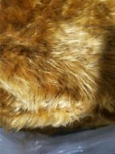 Chewbacca fur gold tan deep pile plush fake fur fabric buy the yard