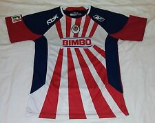 2008 C.D. Guadalajara Home Reebok L Xl Young Boy Chivas Rayadas Mexico Jersey