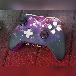 💜XBOX ONE S 1708 WIRELESS CONTROLLER CUSTOM PURPLE HAZE  PINK/PUR LED 💜