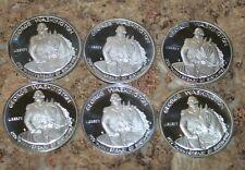 LOTS OF 6 , 1982-S Commemorative Half Dollar Washington 90% Silver UNCIRCULATED