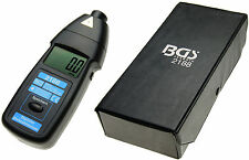BGS Germany Digital Display Photo Electronic Tachometer Tacho Easy Measure RPM