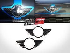 Carbon Hood+Trunk Emblem Badge Overlay Cover for Mini Cooper R55 R56 R57 R58 R59