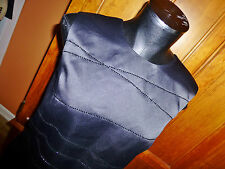 ANN TAYLOR size 14 Black Satin Beaded Cocktail Evening party dress TOP BLOUSE