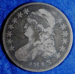 1813 50c Capped Bust Silver Half Dollar Coin