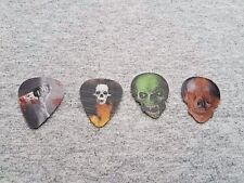 4 HOT PICKS 3D Motion Terror Horror Skull Guitar Picks