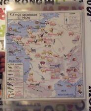 Affiche Set de Table Poster France Élevage Porc Mouton Chèvre Volaille Homard