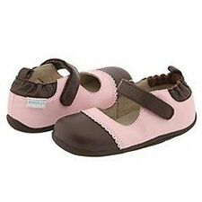 New Robeez Tredz Emily Mary Jane Pink Brown Shoes size 16-20 months 21 22 eu 5.5