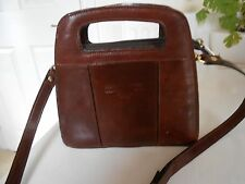 Firenze Brown 100% Leather Small Shoulder / Body Bag