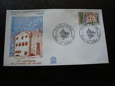 ANDORRE (francais) - enveloppe 1er jour 6/9/1980 (architecture) (cy63) andorra(T