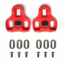 Look Keo compatible pedal cleats replacement set - Red 9° float