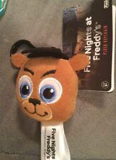 Five Nights At Freddy's Freddy Fazbear Plush Head Keychain Backpack Clip (NWT)
