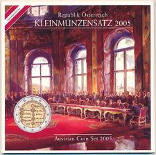 Austria Euro Mint  Set 2005 Official Münze Österreich Mint Pack