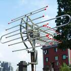 150MILES HDTV Outdoor Attic Amplified Antenna 36dB Rotor Remote 360° UHF/VHF/FM