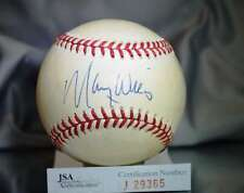 MAURY WILLS JSA CERTED NATIONAL LEAGUE AUTOGRAPH BASEBALL AUTHENTIC SIGNeD