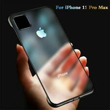 For iPhone 12 Pro Max 11 Pro Slim Frameless Hard Case Transparent Matte Cover
