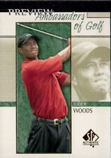 2001 SP Authentic Preview #51 Tiger Woods AG