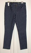 NWT J Crew blue denim polka dot toothpick cropped jeans 28 ankle